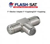 F-Stecker Adapter F-Kupplung/2xF-Kupplung