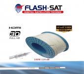 Koaxialkabel 120 dB 100m Rolle