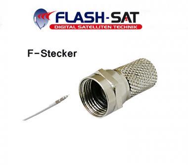 F-Stecker 7mm für Koaxialkabel Antennenkabel Koax Kabel