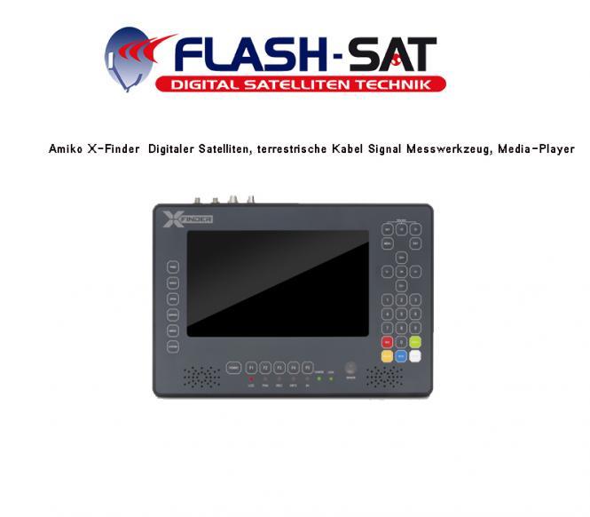Amiko X-Finder  Digitaler Satelliten, terrestrische Kabel Signal Messwerkzeug, Media-Player